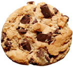 Chocolate chip cookie size today