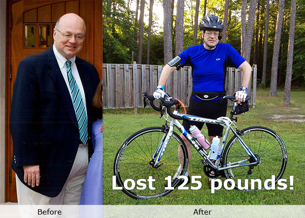 Weight loss success before and after photo