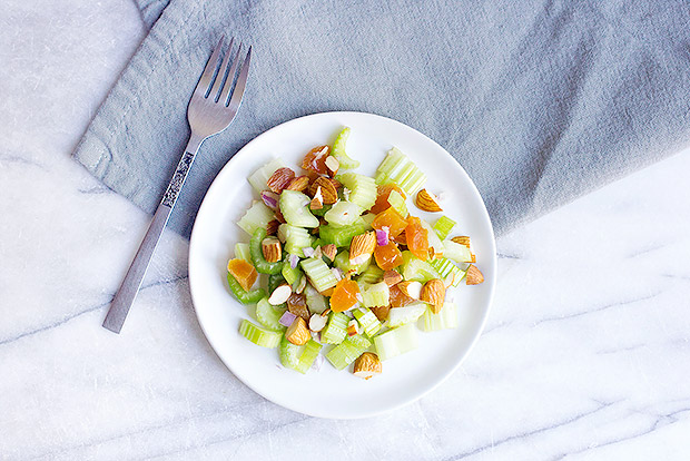 Almond Apricot Celery Salad Recipe