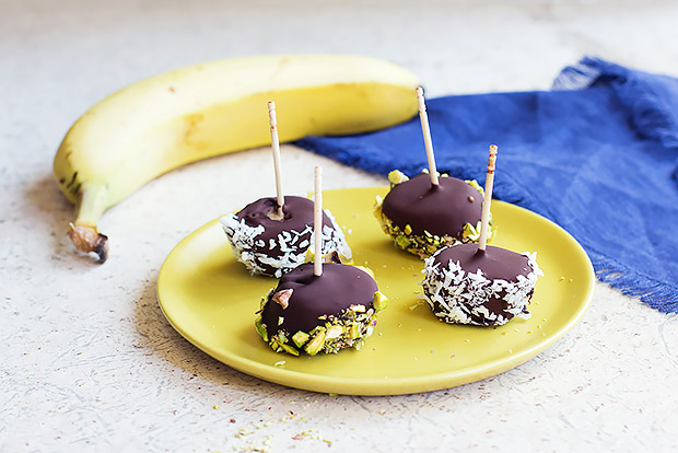 Chocolate Dipped Banana Bites Recipe
