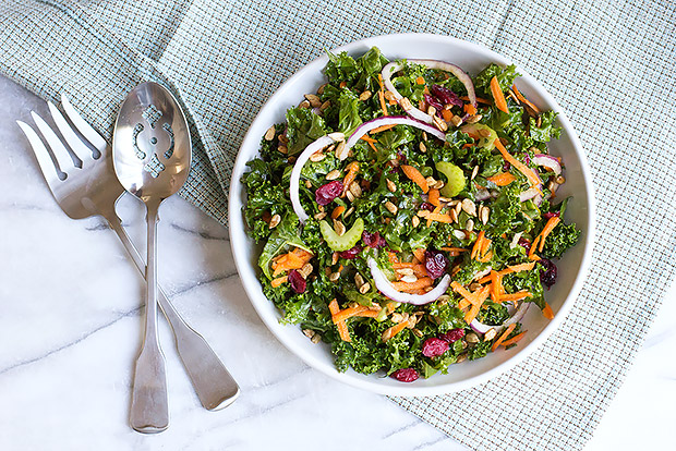 Kale Salad with Honey Ginger Dressing Recipe
