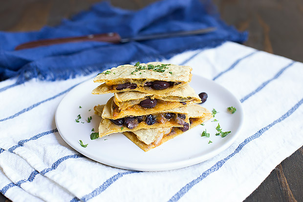 Winter Squash and Black Bean Quesadillas Recipe