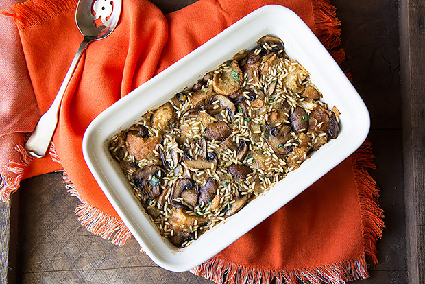 Mushroom and Brown Rice Stuffing Recipe