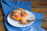 Warm Grapefruit with Almonds and Cinnamon