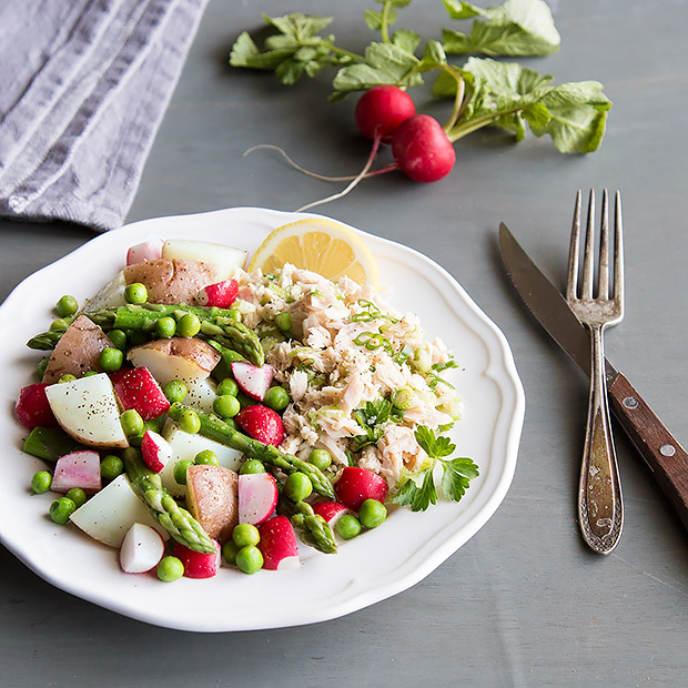 Tuna Salad with Spring Vegetables Recipe