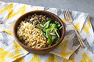 Healthy Grain Bowl with Orange Curry Dressing