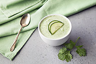Easy Chilled Cucumber Soup with Cilantro and Lime