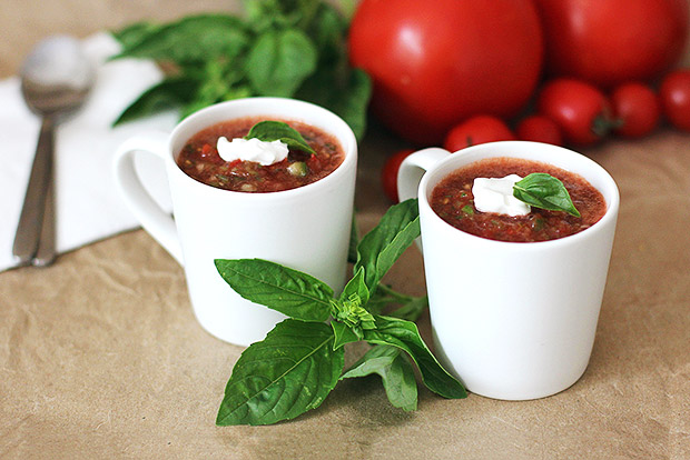Spicy Basil Lemon Gazpacho Recipe
