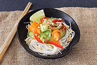 Ribbon Vegetable Salad with Rice Noodles