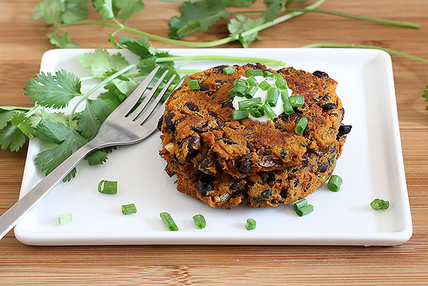 Sweet Potato Black Bean Cake Recipe