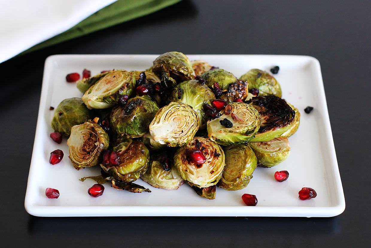 Roasted brussels sprouts with lemon and pomegranate recipe for Cuisine x studio brussel