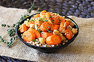 Carrot, Chickpea, and Farro Salad with Thyme
