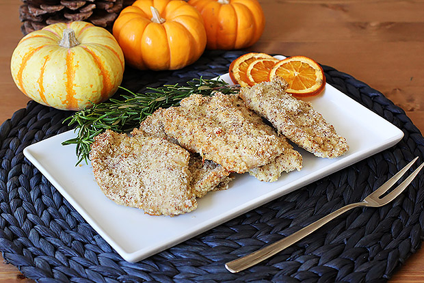 Almond Dijon Turkey Cutlets Recipe