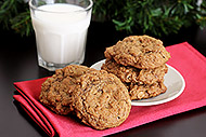 Spiced Molasses Oatmeal Cookies