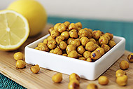 Lemon Curry Roasted Chickpeas