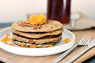 Whole Wheat Honey Apricot Pancakes