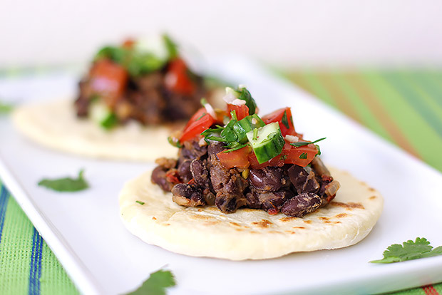Black Bean Chipotle Tacos with Fresh Salsa Recipe