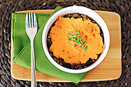 Sweet Potato and Lentil Shepherd's Pies