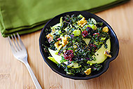 Apple Kale Salad with Mint Yogurt Dressing