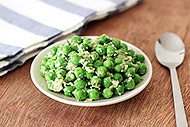 Spring Peas with Basil and Green Onion Pesto