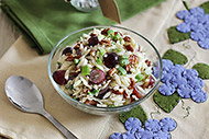 Pasta Salad with Grapes and Pecans