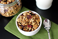 Apple, Banana, and Peanut Butter Granola