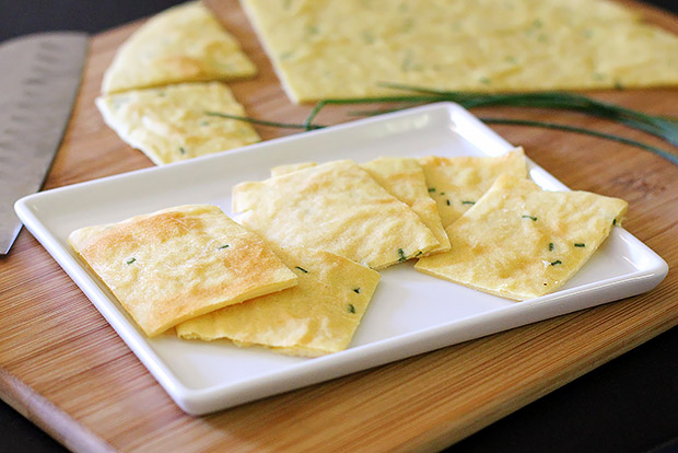 Garlic and Chive Chickpea Flatbread
