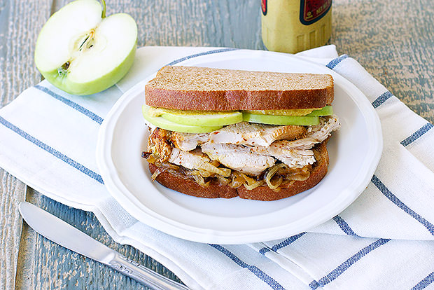 Roasted Turkey Sandwich with Caramelized Onion & Apple Recipe