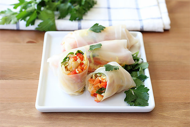 Garlic Shrimp Spring Rolls Recipe
