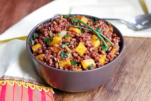 Roasted Pumpkin and Red Rice Salad Recipe