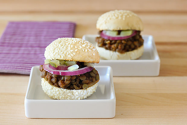 Vegetarian Barbecue Lentil Sliders Recipe
