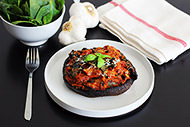 Spinach and Marinara Stuffed Portabella Mushrooms