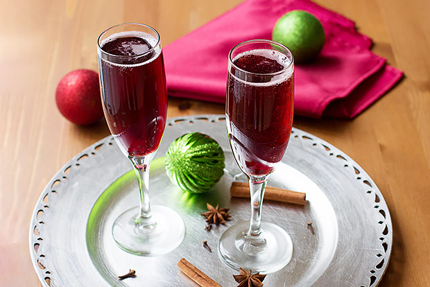 Mulled Cranberry Apple Cider Spritzer Recipe