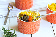 Mushroom and Polenta Pot Pies