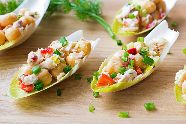 Tuna and Chickpea Endive Bites Recipe