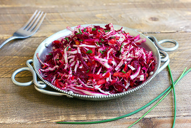 Cabbage and Beetroot Slaw Recipe