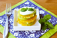 Orange Kiwi Fruit Salad with Honey Yogurt