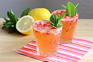 Low Sugar Strawberry Lemon Spritzer