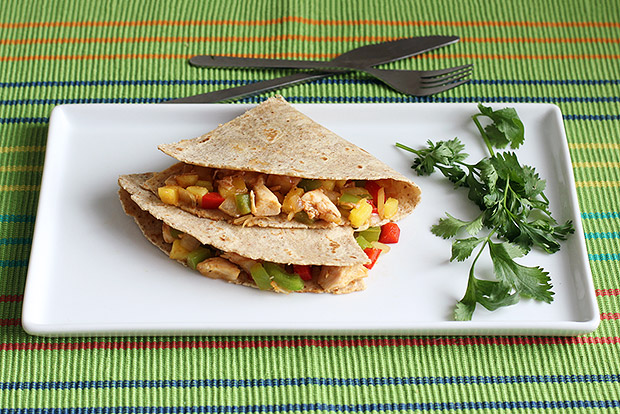 Tex Mex Chicken Pineapple Quesadilla Recipe