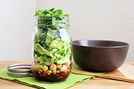 Salad in a Jar with Blueberry Balsamic Dressing
