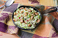 Warm Shredded Brussels Sprouts Salad